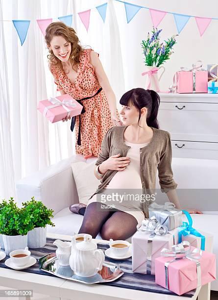 Pregnant woman receiving gitfs