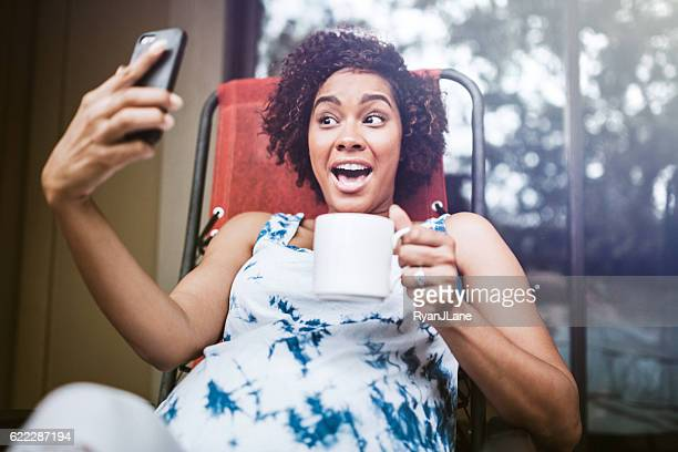 Pregnant Woman Relaxing With Tea