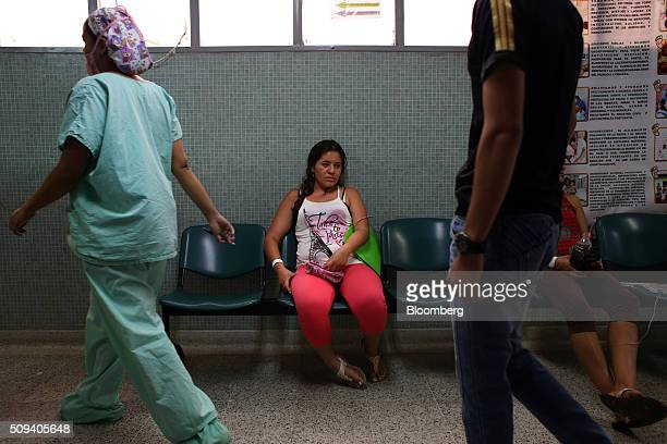 A pregnant woman waits to be seen by a doctor at the ESE Hospital Universitario Erasmo Meoz in Cucuta Colombia on Monday Feb 8 2016 Alejandro Gaviria...