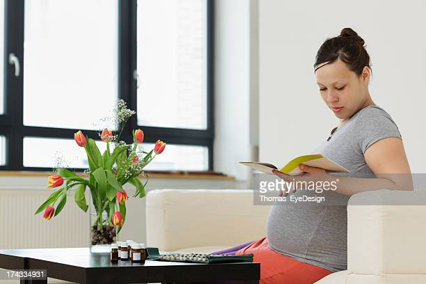 Pregnant Woman with Homeopathic Pills