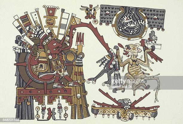 prehispanic america high culture regions mexico mesoamerica art objects religion Codex Borgia pictorial manuscript of eraly 16th cent Plate 71 The...
