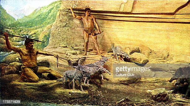 Prehistoric man Azilian culture Reconstruction of hunting scene Remains found in modern day northern Spain and southern France Lived around 12000...