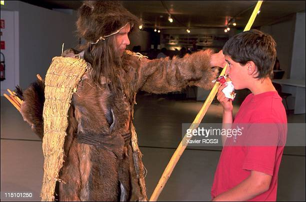 Prehistorical museum in Quinson France on May 29 2001 Iceman found preserved in a Tyrol glacier He was reconstructed with the 'flesh' Iceman died at...
