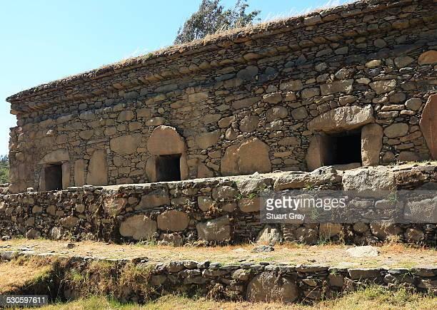 Pre-Inca Wilcahuain ruins, Huaraz, Peru