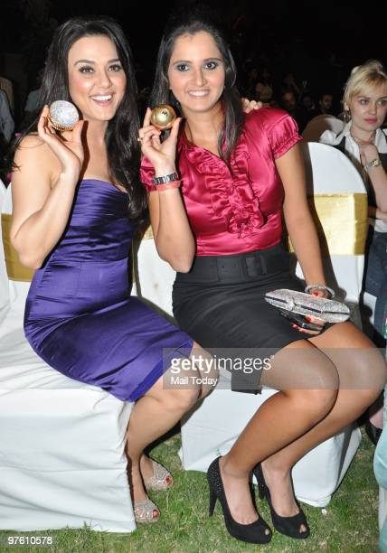 Preity Zinta and Sania Mirza during a ceremony organised by 'Sports Illustrated' to felicitate the most influential people in Indian sports in Mumbai...