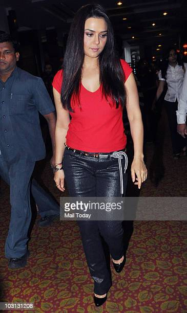 Preity Zinta at a promotional event in Mumbai on July 27 2010