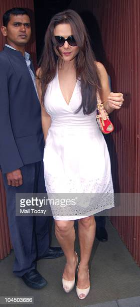 Preity Zinta at the wedding brunch of Ramesh Taurani's daughter Nisha in Mumbai on September 26 2010