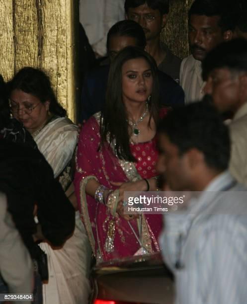 Preity Zinta at the wedding of Aishwarya and Abhishek Bachchan