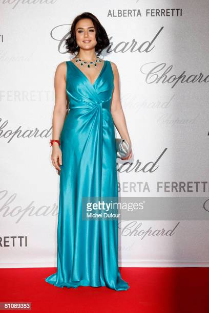 Preity Zinta attends the Chopard and Feretti party at Crystal Beach during the 61st International Cannes Film Festival on May 14 2008 in Cannes France