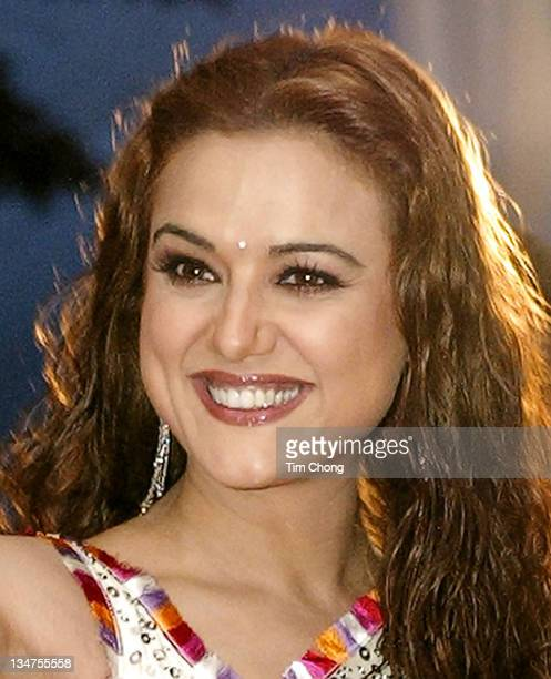 Preity Zinta during IIFA Bollywood Awards 2004 Arrivals at Indoor Stadium in Singapore SGP Singapore