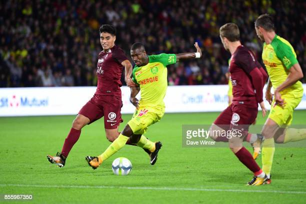 Prejuce Nguimbe Nakoulma of Nantes during the Ligue 2 match between Paris FC and Nimes on September 29 2017 in Paris France