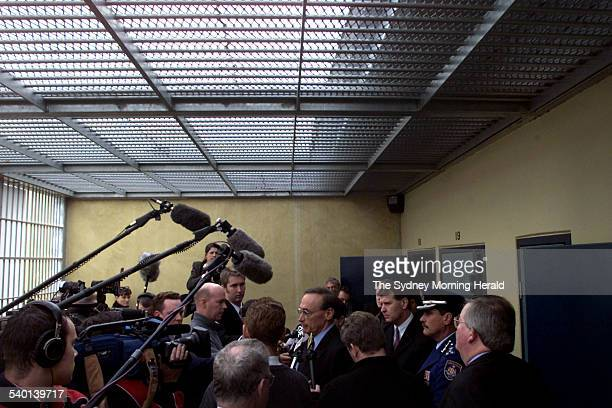 Premier Bob Carr opens the the new $22 million high risk management unit at Goulburn jail 1 June 2001 SMH Picture by NARELLE AUTIO