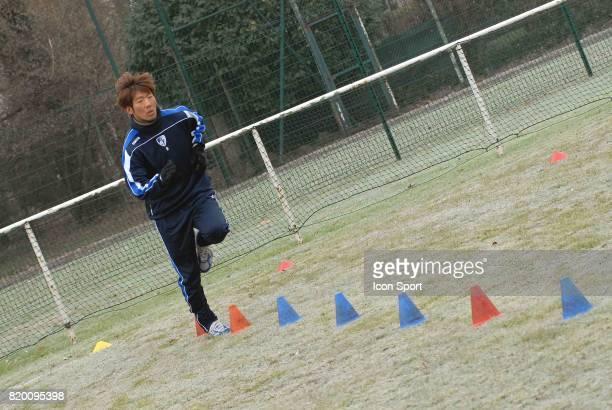 Premier entrainement de Masashi OGURO a Grenoble Conference de presse au GF 38