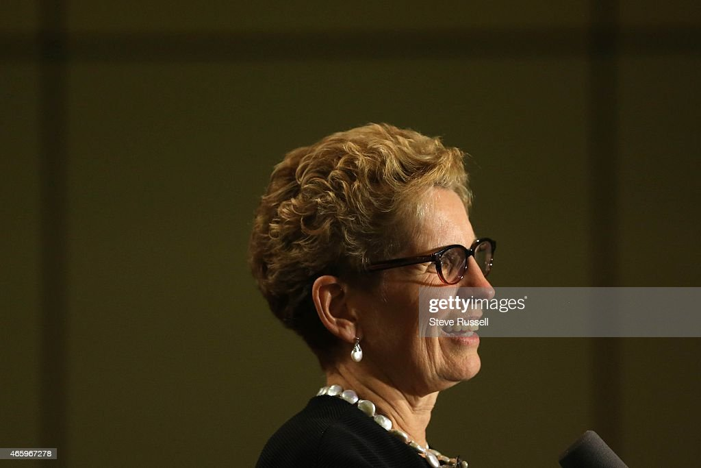 Premier <a gi-track='captionPersonalityLinkClicked' href=/galleries/search?phrase=Kathleen+Wynne&family=editorial&specificpeople=10626599 ng-click='$event.stopPropagation()'>Kathleen Wynne</a> addresses Liberals and party donors at Ontario Liberal Party Heritage Dinner, their biggest fundraiser of the year at the Metro Toronto Convention Centre in Toronto.