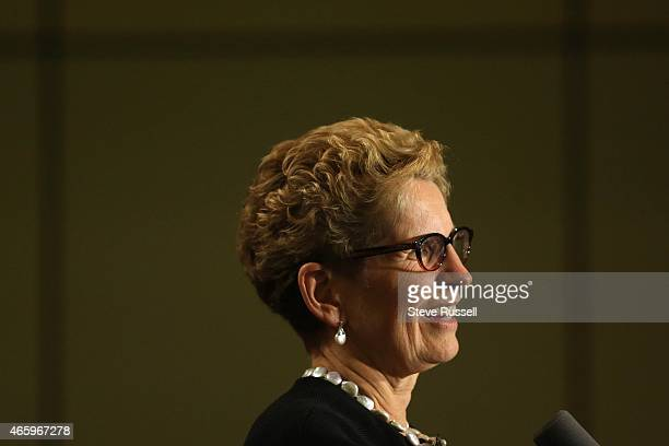 Premier Kathleen Wynne addresses Liberals and party donors at Ontario Liberal Party Heritage Dinner their biggest fundraiser of the year at the Metro...