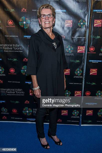 Premier of Ontario Kathleen Wynne attends the 'Beeba Boys' screening at the IIFFT 2015 Opening Night Film and Gala Dinner at Aga Khan Museum on...