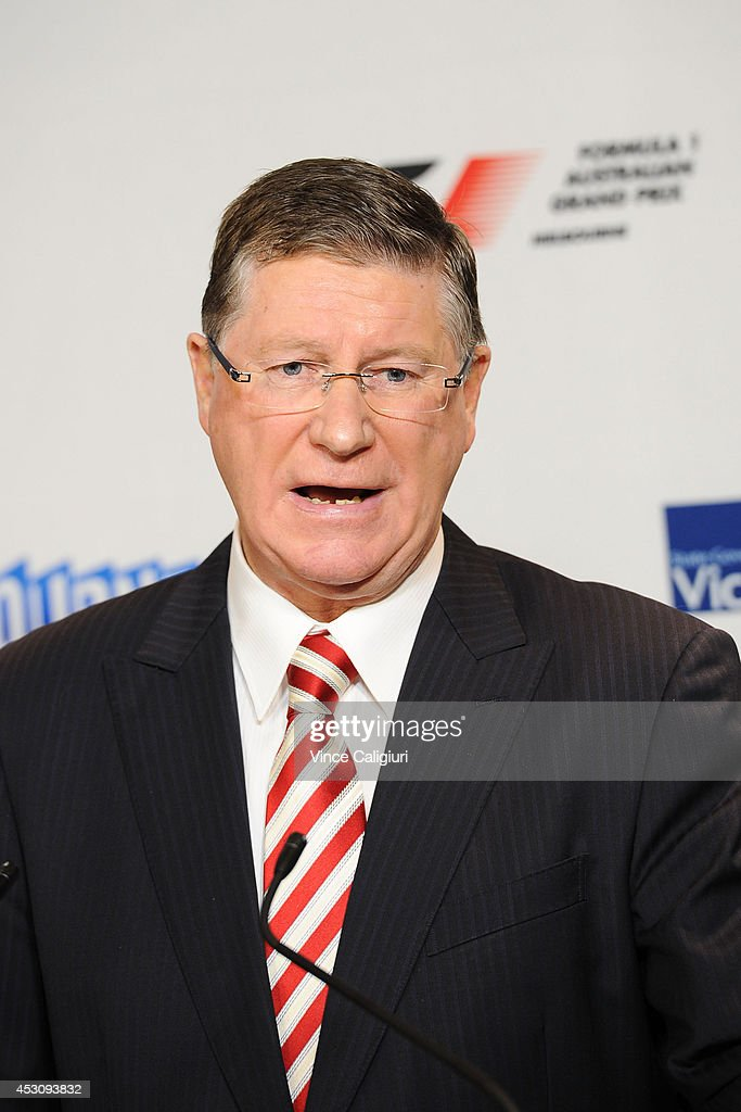 Premier of Victoria, the Hon Dr Denis Napthine speaks to the media during an AGPC media announcement at the State Government Office on August 3, 2014 in Melbourne, Australia.