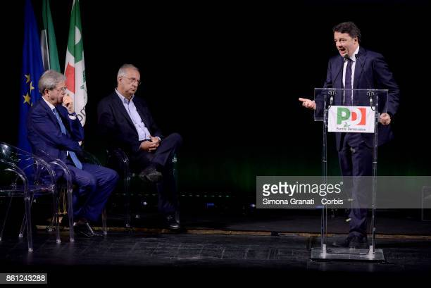 Premier Paolo Gentiloni Matteo Renzi and Walter Veltroni partecipate at 'Born Democrats' event to celebrate 10 years since the birth of the...