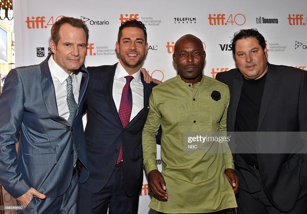 REBORN -- Premiere at Toronto International Film Festival -- Pictured: (l-r) Jack Coleman, Zachary Levi, Jimmy Jean-Louis, Greg Grunberg --