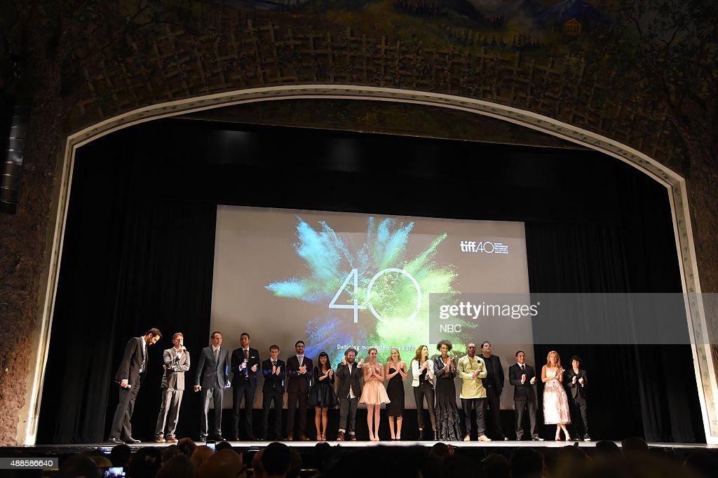 REBORN -- Premiere at Toronto International Film Festival -- Pictured: (l-r) Michael Lerman, TIFF Moderator; Tim Kring, Creator; Jack Coleman, Zachary Levi, Robbie Kay, Ryan Guzman, Kiki Sukezane, Henry Zebrowski, Gatlin Green, Danica Yarosh, Rya Kihlstedt, Judith Shekoni, Jimmy Jean-Louis, Greg Grunberg, Noah Gray-Cabey, Francesca Eastwood, Lucias Hoyos --