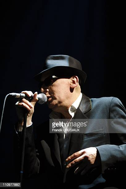 Premiere date on the tour of Alain Bashung in the occasion of the release of his latest album 'Bleu petrole' in Lille France on April 5th 2008