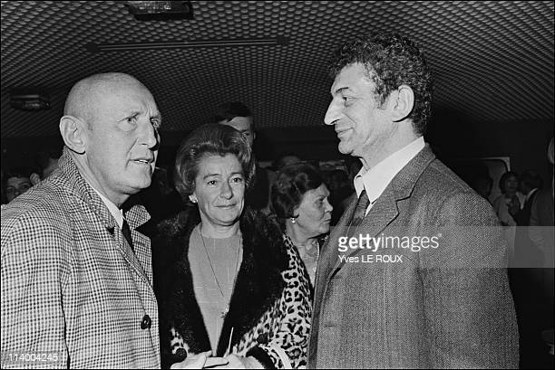 Premiere of 'Clerambard' by Yves Robert in Paris France on October 03 1969Bourvil and Yves Robert