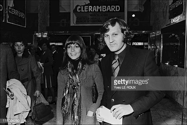 Premiere of 'Clerambard' by Yves Robert in Paris France on October 03 1969Chantal Goya and Jean Jacques Debout