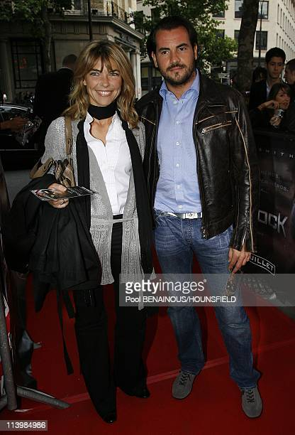 Premiere of 'Hancock' at Olympia Hall In Paris France On June 16 2008Nathalie Vincent and her friend Philippe