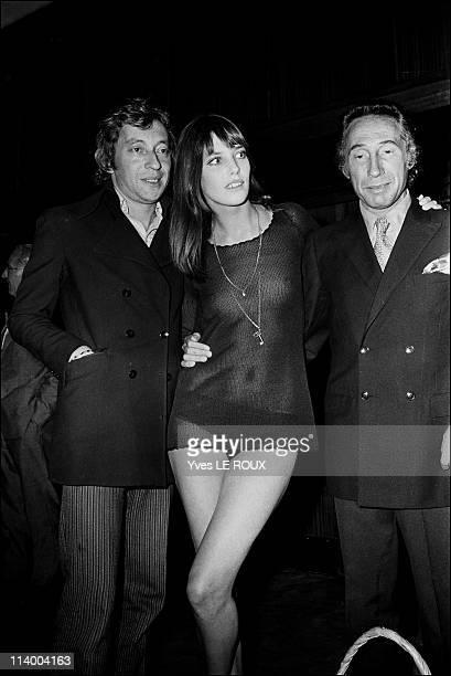 Premiere of 'Slogan' by Pierre Grimblat in France on August 28 1969 Serge Gainsbourg Jane Birkin Pierre Grimblat