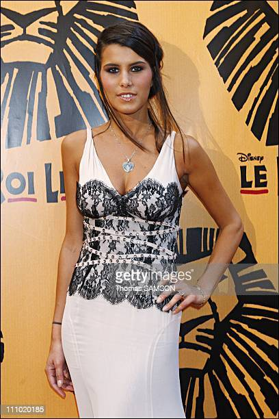 Premiere of the musical comedy 'The Lion King' at the Theatre Mogador in Paris France on October 4th 2007 Karine Ferri
