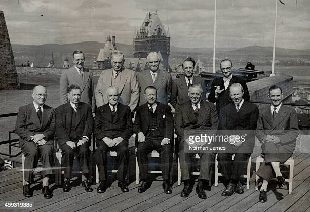 Premiers With prime minister and governorgeneral front row from left J B McNair NB Maurice Duplessis Que Louis St Laurent Viscount Alexander Leslie...