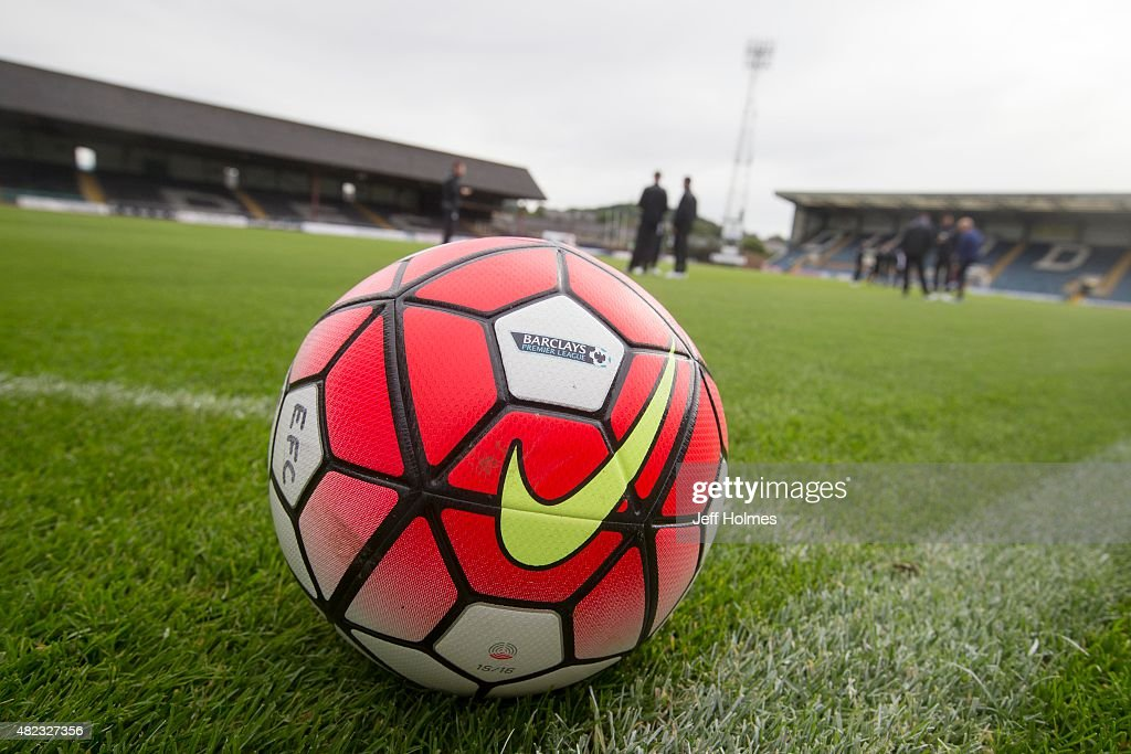 Premiership ball at the Pre Season Friendly between Dundee and Everton at Dens Park on July 28th, 2015 in Dundee, Scotland.