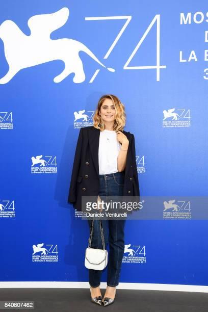 Premio Venezia Opera Prima 'Luigi De Laurentiis' jury member Greta Scarano attends the Jury photocall during the 74th Venice Film Festival on August...