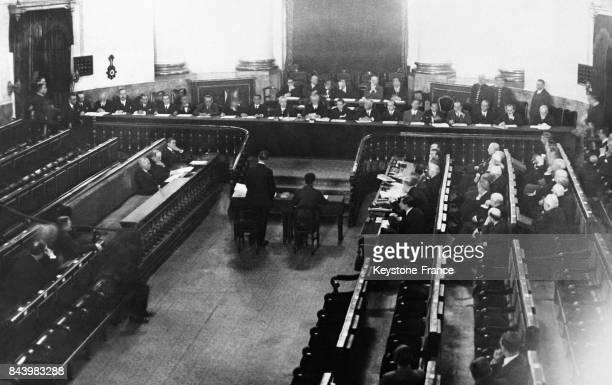 Première session de la Haute Cour lors du procès des Généraux de la Dictature le 24 novembre 1932 à Madrid Espagne