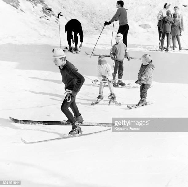 Premières glissades à Valberg France le 15 novembre 1966