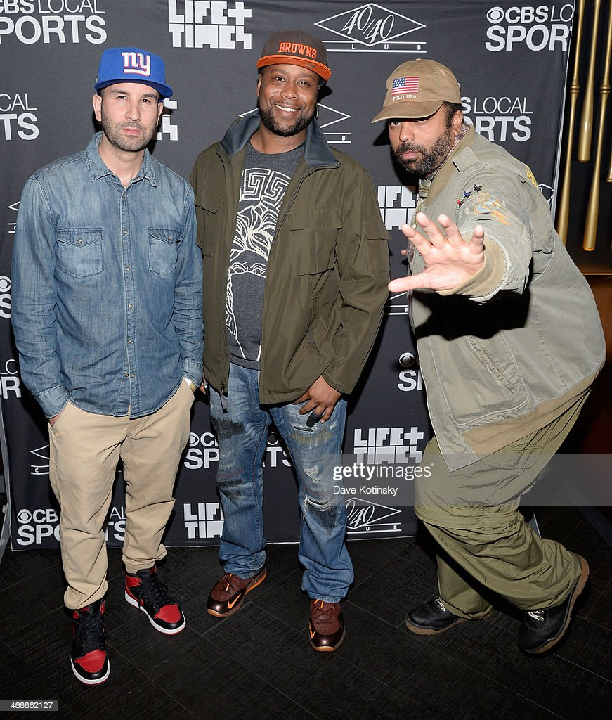 Premium Pete, Hanif Sumner and Dallas Penn attend CBS Local Sports' Draft Party on May 8, 2014 in New York City.