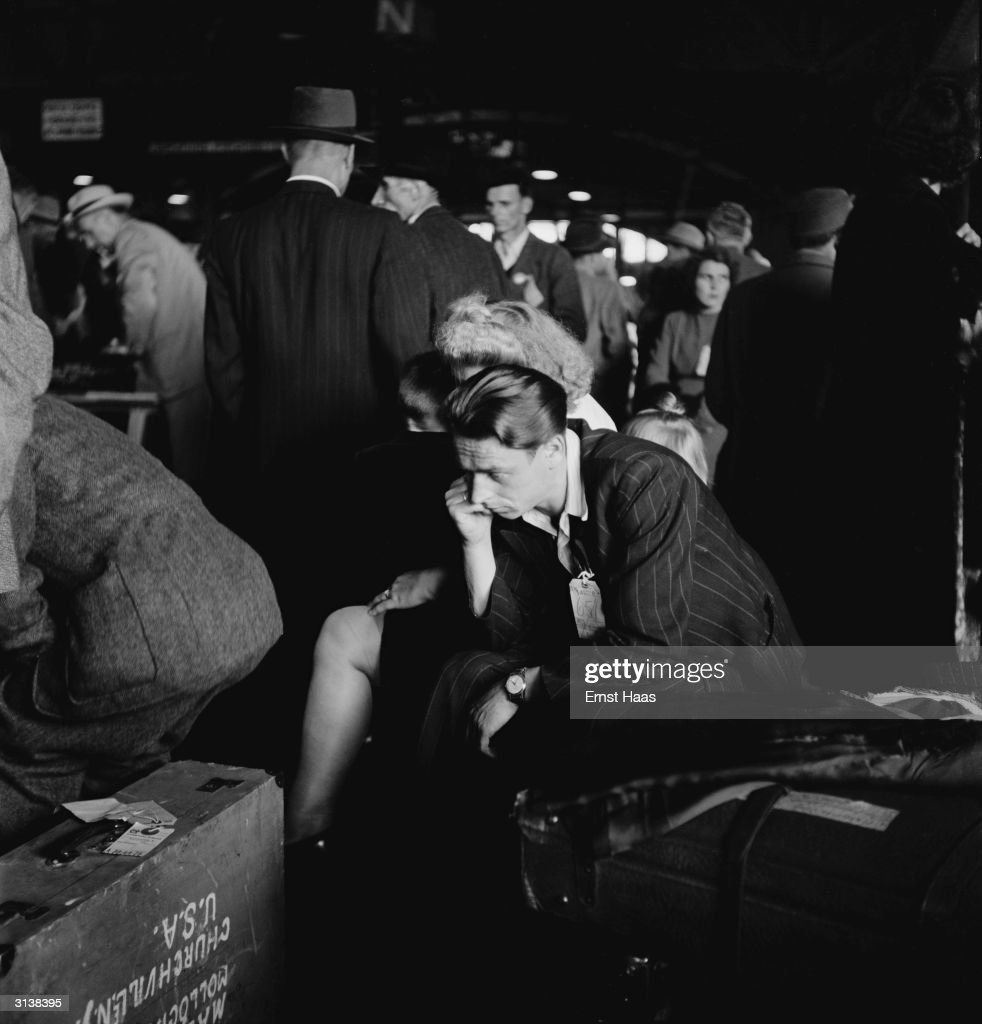 A man recently arrived at Ellis Island, on the last boatload of displaced persons (DPs) from WW ll from Europe, looking thoughtful.