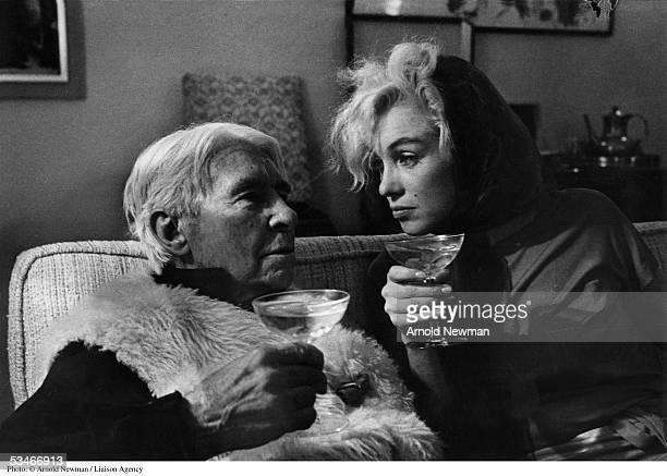 Premium Rates Apply. Minimum rate $500 USD. 366775 02: Hollywood actress Marilyn Monroe & poet Carl Sandburg at party January 20, 1962 in Hollywood, California.