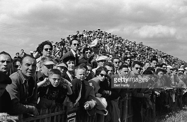 Premium Rates Apply Spectators at the Le Mans 24Hour race 11th June 1955 Original publication Picture Post 7852 Motor Racing Must Go On pub 1955
