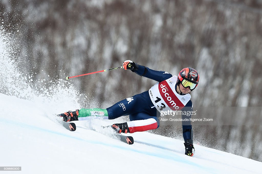 Prenom <a gi-track='captionPersonalityLinkClicked' href=/galleries/search?phrase=Florian+Eisath&family=editorial&specificpeople=4056205 ng-click='$event.stopPropagation()'>Florian Eisath</a> of Italy competes during the Audi FIS Alpine Ski World Cup Men's Giant Slalom on February 13, 2016 in Naeba, Japan.