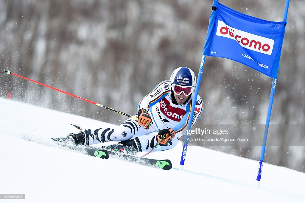 Prenom <a gi-track='captionPersonalityLinkClicked' href=/galleries/search?phrase=Fritz+Dopfer&family=editorial&specificpeople=5639346 ng-click='$event.stopPropagation()'>Fritz Dopfer</a> of Germany competes during the Audi FIS Alpine Ski World Cup Men's Giant Slalom on February 13, 2016 in Naeba, Japan.