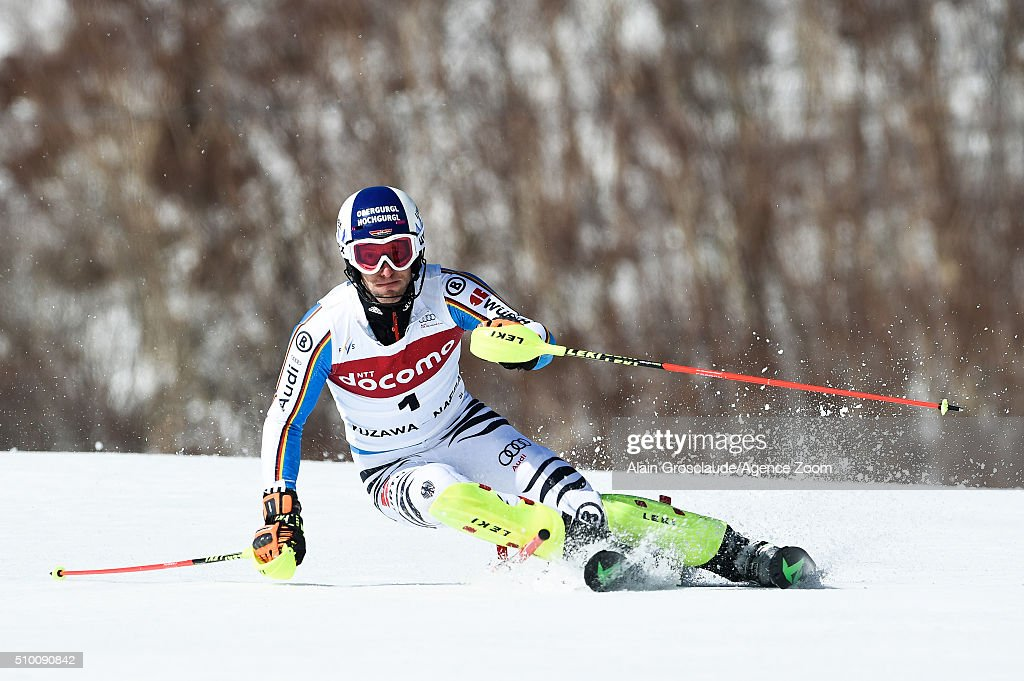 Prenom <a gi-track='captionPersonalityLinkClicked' href=/galleries/search?phrase=Fritz+Dopfer&family=editorial&specificpeople=5639346 ng-click='$event.stopPropagation()'>Fritz Dopfer</a> of Germany competes during the Audi FIS Alpine Ski World Cup Men's Slalom on February 14, 2016 in Naeba, Japan.