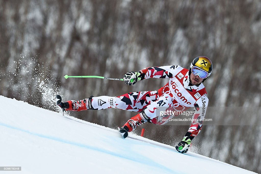 Prenom <a gi-track='captionPersonalityLinkClicked' href=/galleries/search?phrase=Marcel+Hirscher&family=editorial&specificpeople=4784559 ng-click='$event.stopPropagation()'>Marcel Hirscher</a> of Austria competes during the Audi FIS Alpine Ski World Cup Men's Giant Slalom on February 13, 2016 in Naeba, Japan.
