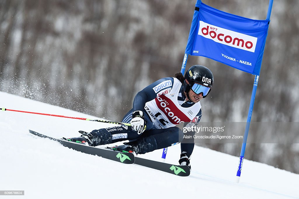 Prenom <a gi-track='captionPersonalityLinkClicked' href=/galleries/search?phrase=Marcus+Sandell&family=editorial&specificpeople=4153799 ng-click='$event.stopPropagation()'>Marcus Sandell</a> of Finland competes during the Audi FIS Alpine Ski World Cup Men's Giant Slalom on February 13, 2016 in Naeba, Japan.