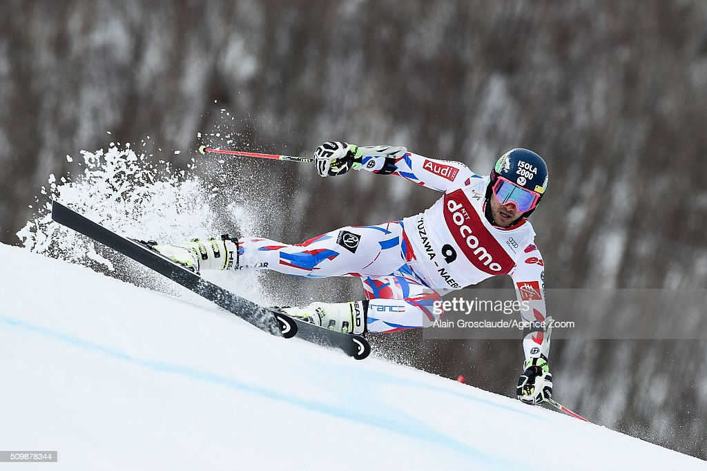 Prenom <a gi-track='captionPersonalityLinkClicked' href=/galleries/search?phrase=Mathieu+Faivre&family=editorial&specificpeople=7462236 ng-click='$event.stopPropagation()'>Mathieu Faivre</a> of France competes during the Audi FIS Alpine Ski World Cup Men's Giant Slalom on February 13, 2016 in Naeba, Japan.
