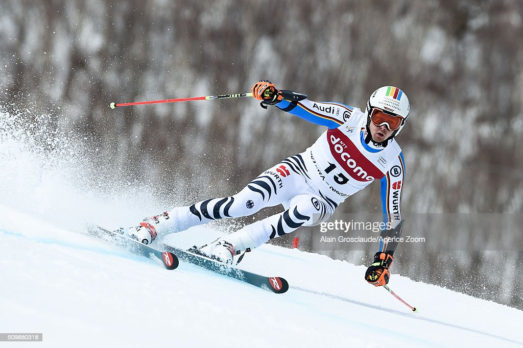 Prenom <a gi-track='captionPersonalityLinkClicked' href=/galleries/search?phrase=Stefan+Luitz&family=editorial&specificpeople=7286362 ng-click='$event.stopPropagation()'>Stefan Luitz</a> of Germany competes during the Audi FIS Alpine Ski World Cup Men's Giant Slalom on February 13, 2016 in Naeba, Japan.