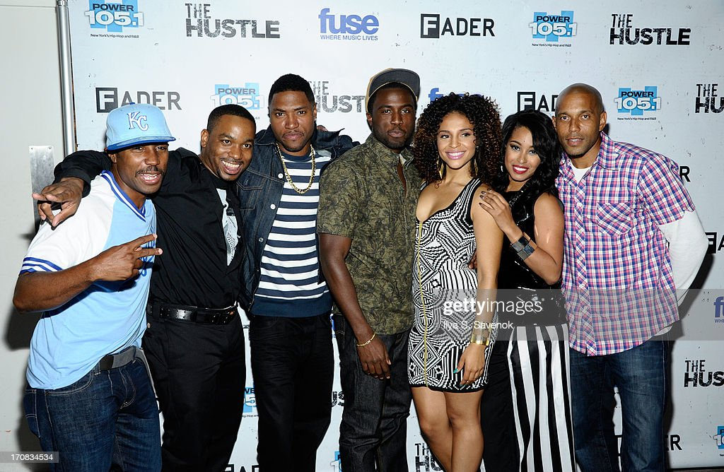 Prentice Penny, Clinton Lowe, London Brown, Y'Lan Noel, Erica Dickerson, Davetta Sherwood and Brooklyn McLinn attend Fuse's screening of 'The Hustle' at Converse Rubber Tracks Studio on June 18, 2013 in the Brooklyn borough of New York City.