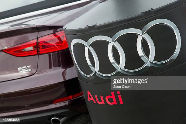 A preowned Audi car is offered for sale at a dealership on November 5 2015 in Westmont Illinois Volkswagen which owns Audi and Porsche has directed...