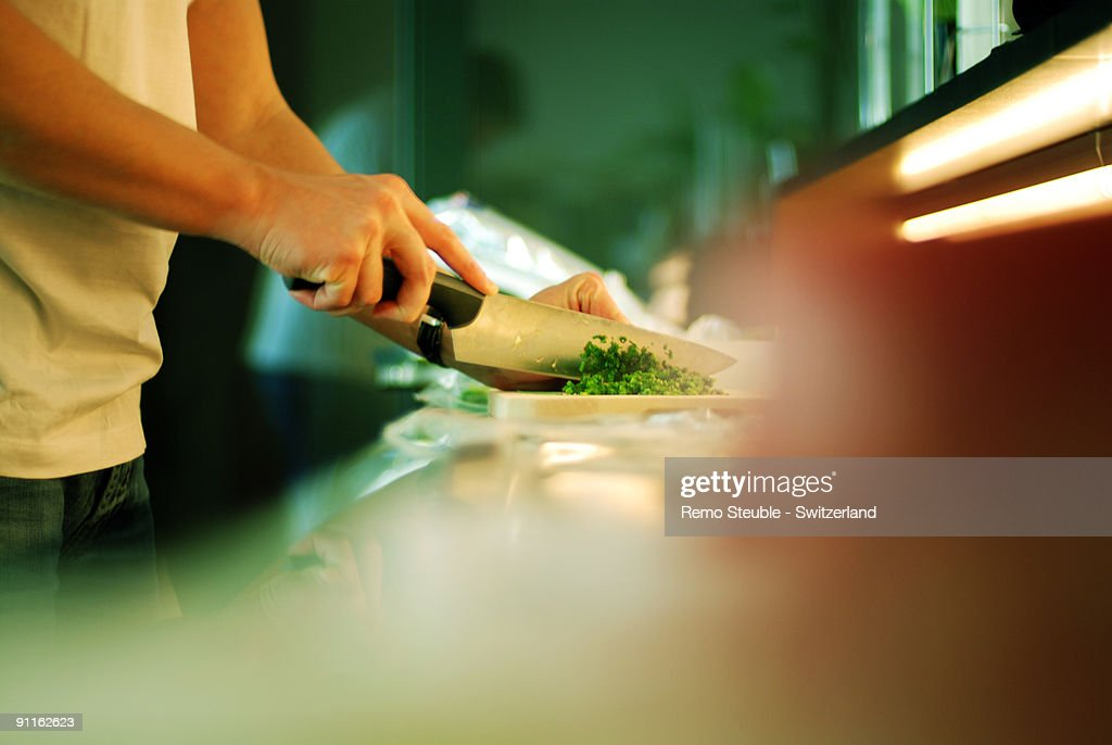 Preparation in the kitchen : Stock Photo