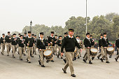 Preparation is going on to celebrate India's 67th Republic Day on Rajpath from President's House to India's Gate India celebrate Republic Day on...